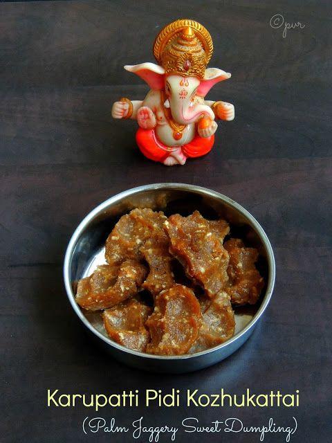 Karupatti Pidi Kozhukattai/Palm Jaggery Sweet Dumplings