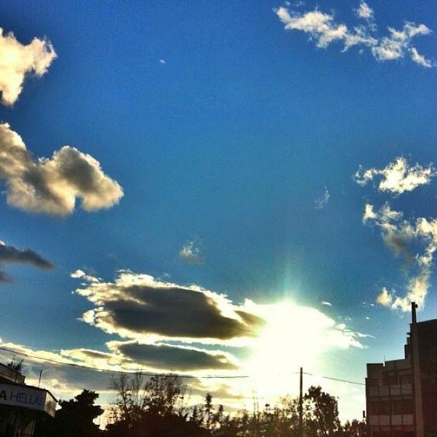 light behind the clouds #sky #clouds #light #sun #athens | Webstagram - the best Instagram viewer