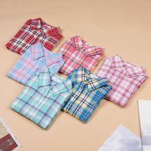 Hot Sale Fashion Women Blouses Long Sleeve Turn-down Collar Plaid Shirts Women Casual Cotton Shirt(China (Mainland))