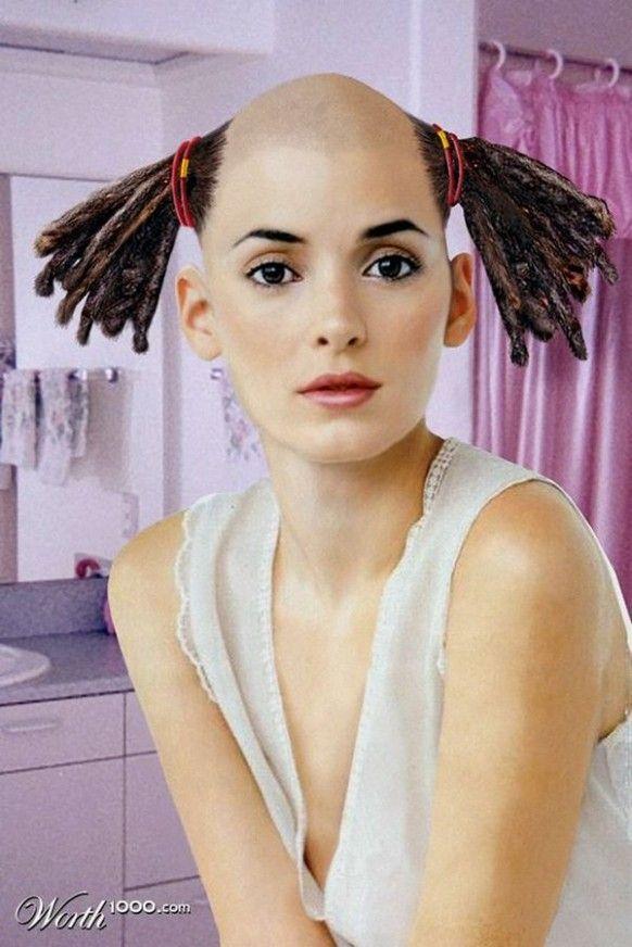 Funny Female Hairstyle Gaya Rambut Potongan Rambut Rambut
