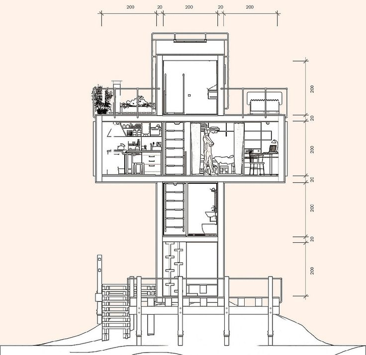 5 micro houses driven by seriously big ideas - Cross Shaped House Plans