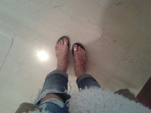 Goldpink sandals