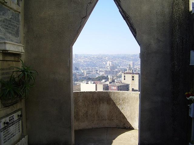 Valparaiso. View from Cemerety n-1 , Cerro panteon.
