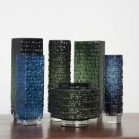 Set of 6 Moldblown Vases by Gral Glas 1960s