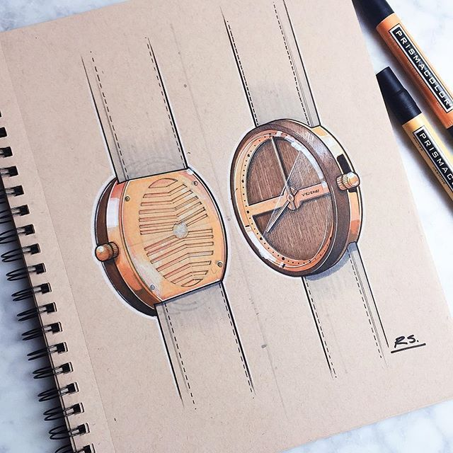 I have a weak spot for Danish design so it seemed fitting to pick up a watch from @vejrhoj #watch #watches #ID #idsketching #idsketch #industrialdesign #productdesign #design #sketch #sketchbook #sketching #drawing #art #instaart #danish #scandinavian #nordic
