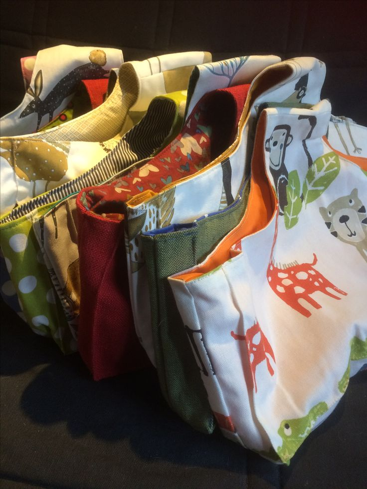 Project bags for knitting, crochet and other crafts.