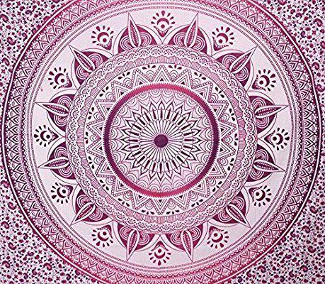 Indian Mandala Tapiz Para Colgar En La Pared Manta de Bohemia Boho indio Colcha Gypsy dormitorio cama 90x 90pulgadas.