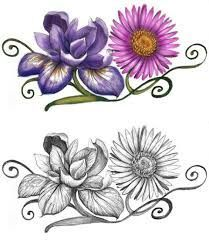 february birth flower tattoo images galleries with a bite. Black Bedroom Furniture Sets. Home Design Ideas