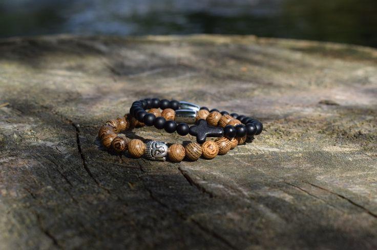 Onze nieuwe Buddha & Cross armbanden! #armbanden #armband #sieraden #herenmode