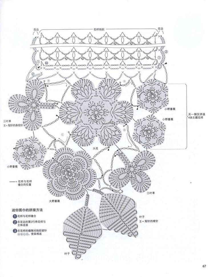 rose flower diagram crochet flower diagram