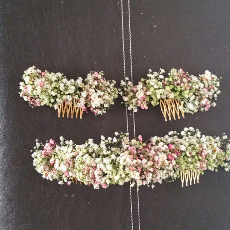 Tocados paniculata natural para novias y damitas