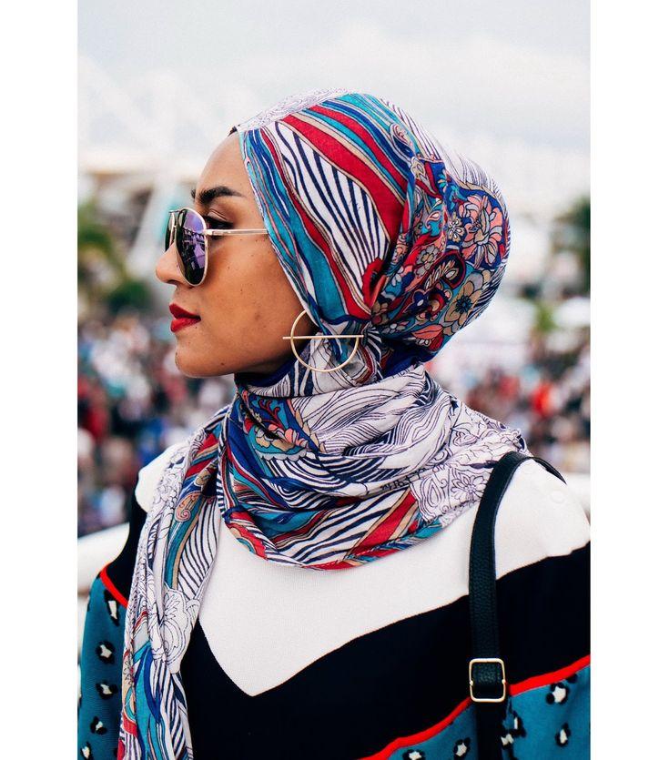 Earrings with hijab