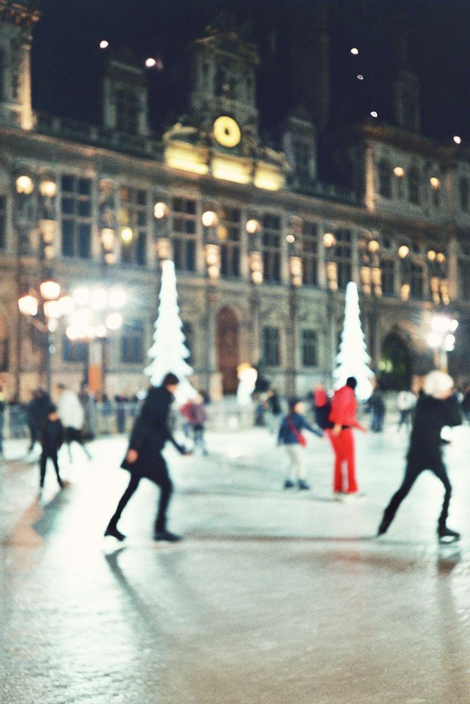 Ice skating in Paris