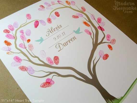 Leaf Print Guest Book: Guestbook Ideas 38, Thumbprint, Wedding Ideas, Tree Guest Books, Trees