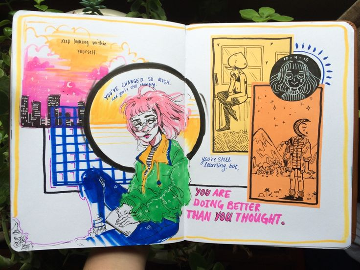 Last spread of my journal. I was going to do a time lapse but the camera died :-)