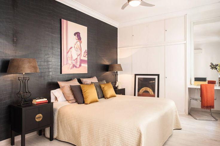 Dormitorio con aires asiáticos : Dormitorios de estilo asiático de Markham Stagers