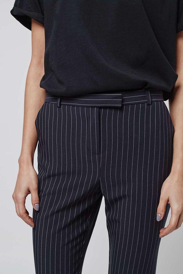Pinstripe Cigarette Trousers