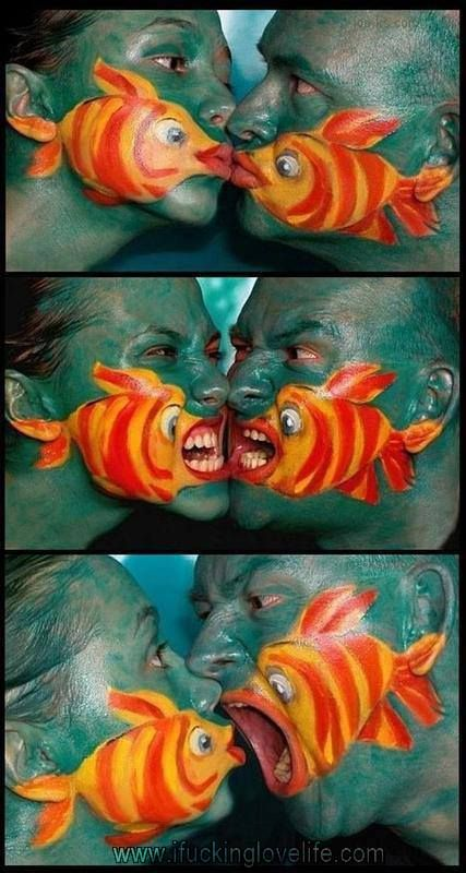 Fish Face Painting. Awesome fish face painting!!!