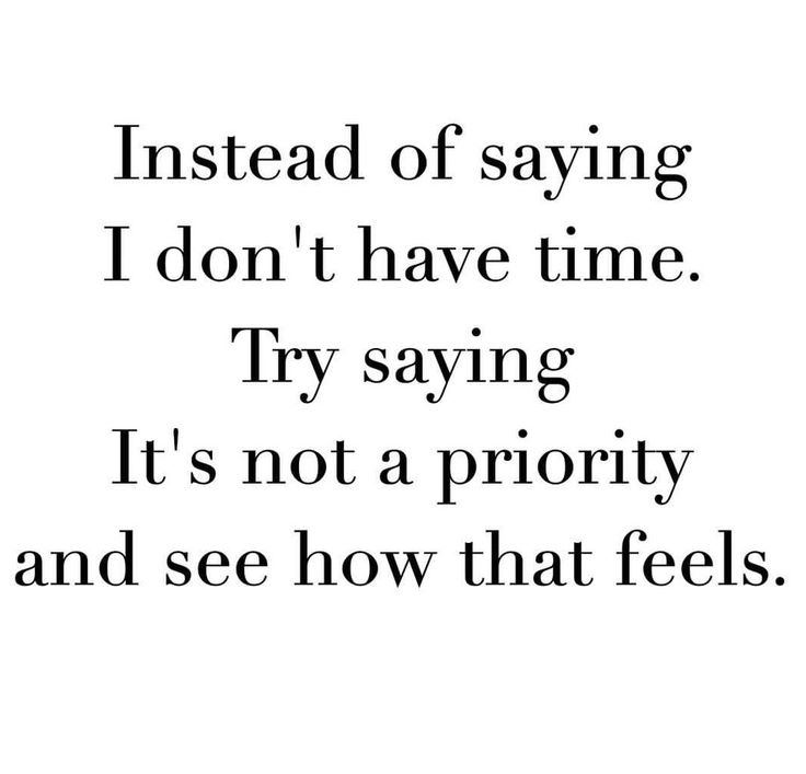 Priorities!