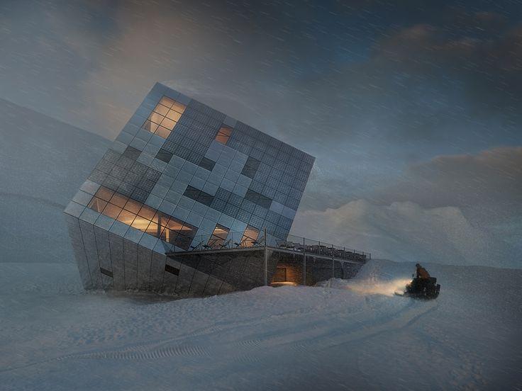 Kežmarská är en bergsstuga av Tjeckiska arkitektbyrån Atelier 8000, som ger intrycket av att ha fallit ner på jorden från yttre rymden.