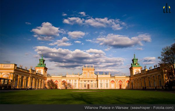 Wilanow Palace in Warsaw: While the Palace is gorgeous all year round, it is especially amazing in the spring when its gardens come to life.