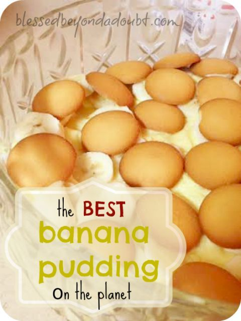 Best banana pudding recipe EVER! Forget the extra calories of cream cheese recipes--who needs it!