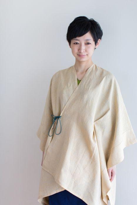 Sousou / Kisaragi Poncho Linen Mustard