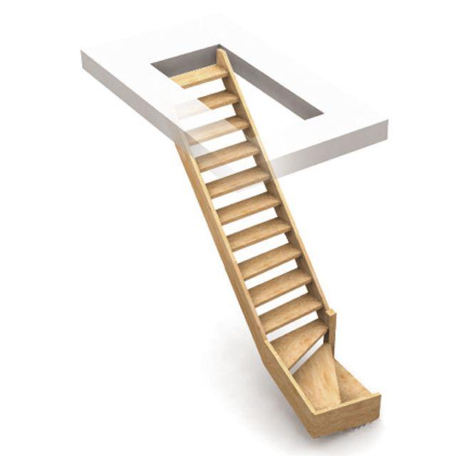 Escalier normandie sapin 1 4 tournant droit 279eur - Meuble a chaussure tournant ...