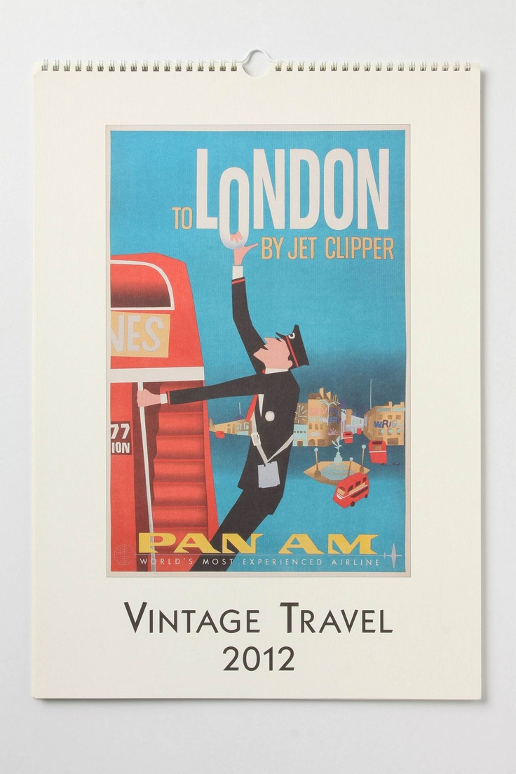 Calendar Vintage Travel Posters : Vintage travel posters calendar in another time