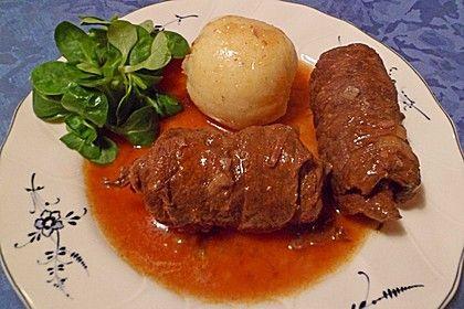 Dornfelder Rouladen im Römertopf, ein gutes Rezept aus der Kategorie Rind. Bewertungen: 83. Durchschnitt: Ø 4,6.