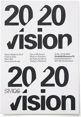 Poster advertising an art exhibition at the Stedelijk Museum, Amsterdam.