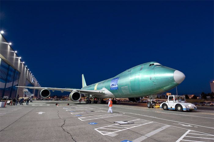 First Boeing 747-8 Freighter Roll Out of Factory