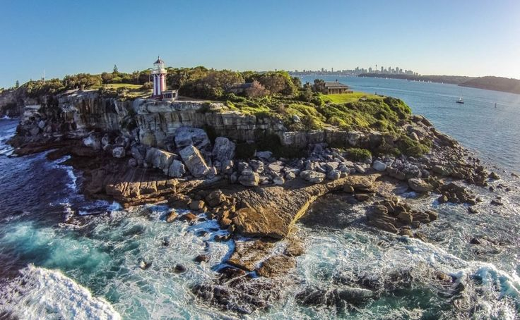 Hornby Lighthouse is best recognised by the distinct red and white lighthouse standing tall at the edge of South Head.