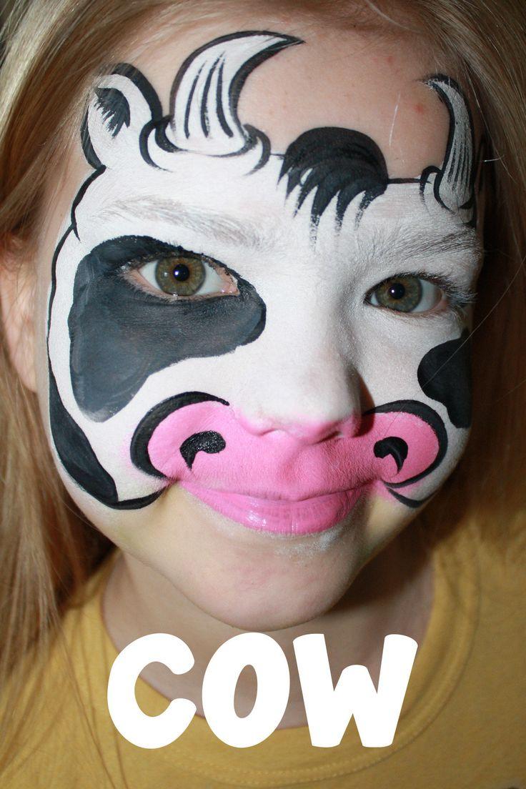 cow face paint - Google Search