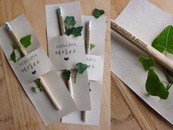 lot 50 cadeaux invité mariage  crayon 'une histoire à – #39une #à #cadeau…