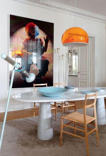"""Appartement - Sandra Benhamou Architecte Photo """"Untitled"""" de Cindy Sherman, 2004 au mur © NIcolas Millet"""