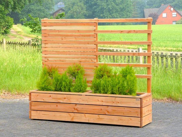 54 best Sichtschutz mit Pflanzkasten aus Holz, Länge 212 cm images - sichtschutz dusche garten