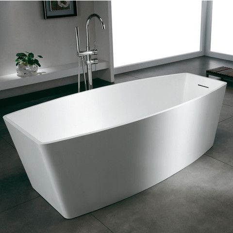 Bañera Solid Surface BERLIN 180 cm http://www.entornobano.com/collections/baneras-solid-surface/products/banera-solid-surface-berlin-180-cm