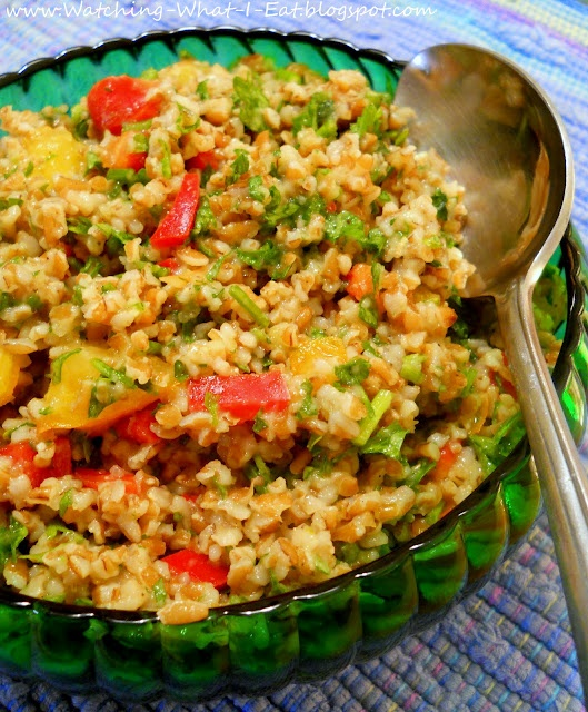 tabouli ~ i love this stuff! And several other Middle Eastern Recipes from Vegetarian times