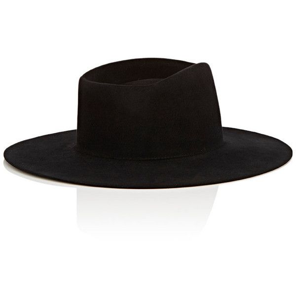 Off-White c/o Virgil Abloh Men's Felt Wide-Brim Fedora ($570) ❤ liked on…