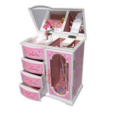 Robin Girl's Glitter-Daisy Upright Musical Ballerina Jewelry Box List Price: $43.00 Sale Price: $34.00