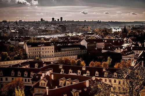 Prague daytime skyline