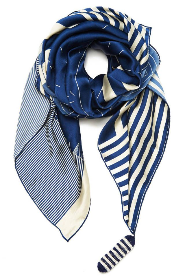 Rumisu Mayday Scarf - Shop more nautical styles for Memorial Day Weekend: http://www.harpersbazaar.com/fashion/fashion-articles/nautical-summer-apparel