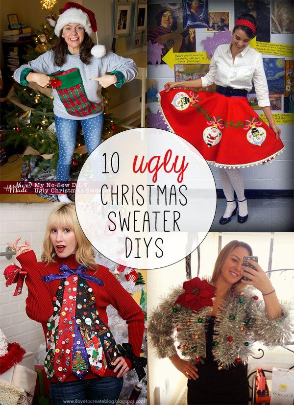 Ugly Christmas Sweater Diys Holidays Christmas Sweaters