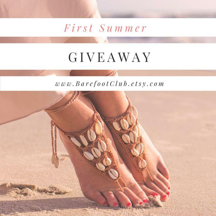 Boho Barefoot Sandals for a Boho Beach Wedding, win a pair at www.facebook.com/ModernCrochetClub