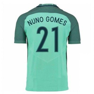 Portugal 2016 Nuno Gomes 21 Udebane Trøje Kortærmet.  http://www.fodboldsports.com/portugal-2016-nuno-gomes-21-udebane-troje-kortermet.  #fodboldtrøjer