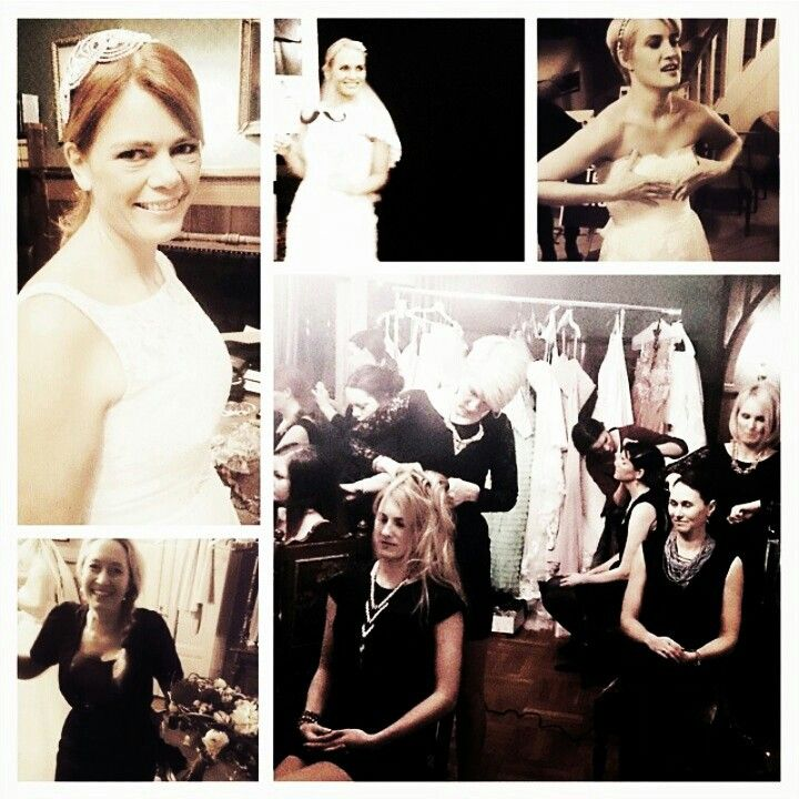 Bridalgownshow backstage valentinesparty brudehuset - sjuls design