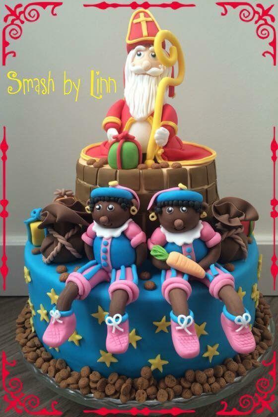 Sinterklaas fondant taart