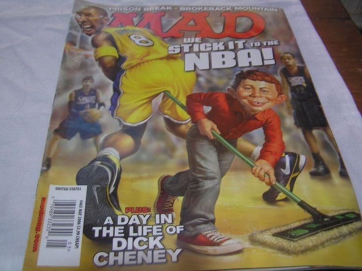 MAD Magazine #465 May 2006 Cobe Bryant NBA Dick Cheney EA Sports Fight Night