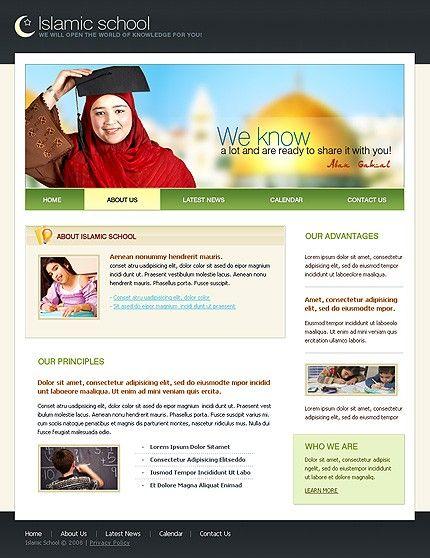 Islamic School Website Templates by Modlin